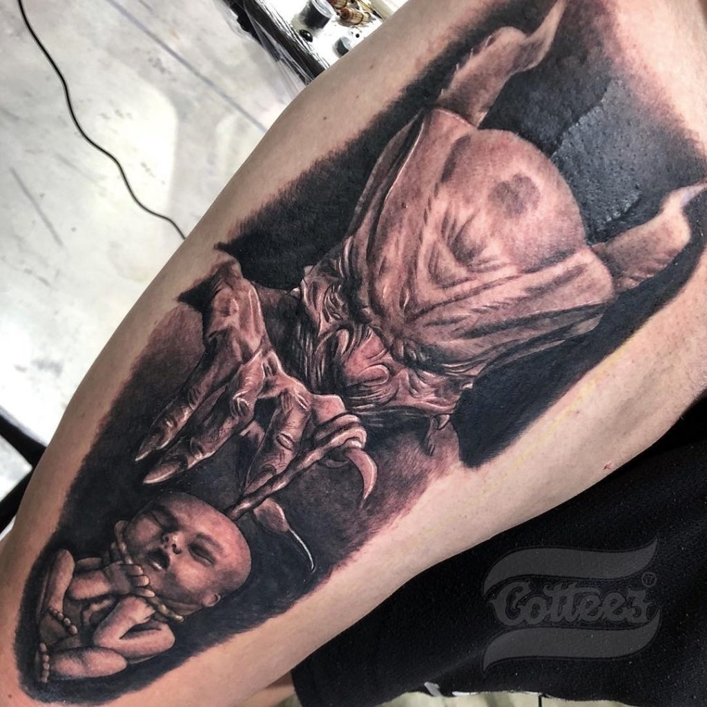 Realism tattoo by Cotteez